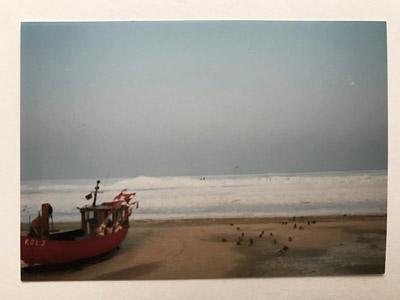 Die gefrorene Ostsee im  Winter 1995